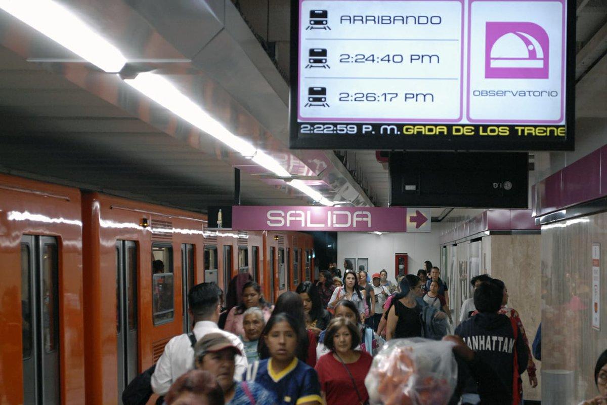 ¿El primer mundo? El Metro te avisa en tiempo real el arribo de trenes en sus estaciones