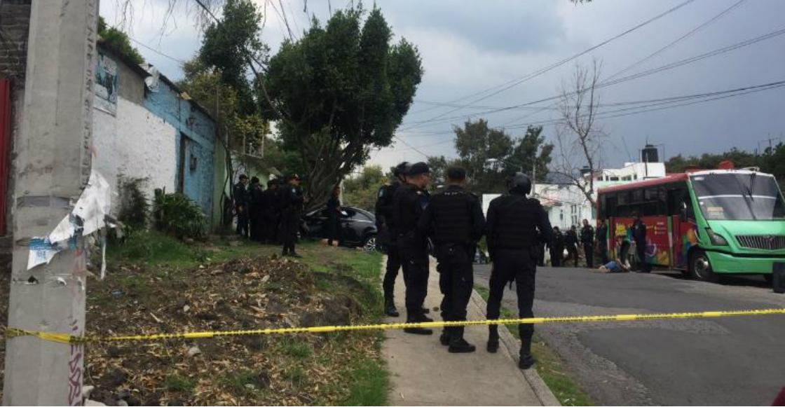Balacera en Tlalpan deja al menos tres muertos, dos lesionados y cinco detenidos