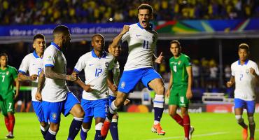 Doblete de Coutinho y golazo de Everton en el triunfo de Brasil en el arranque de la Copa América