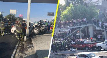 Tres muertos y dos lesionados deja fuerte choque sobre el Viaducto Río Piedad en la CDMX