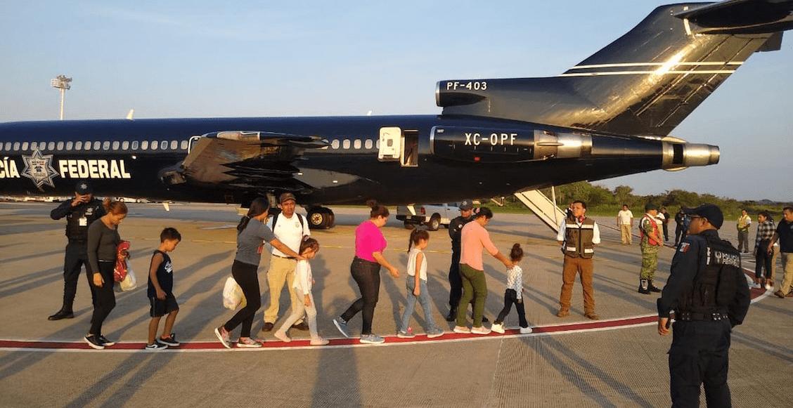 En medio de las amenazas de Trump, INM deporta a 106 migrantes centroamericanos
