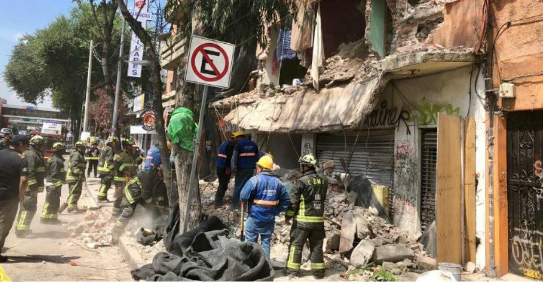 Un inmueble se derrumbó en la colonia Portales, CDMX; no hay heridos