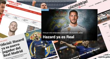 Así reaccionó la prensa internacional al fichaje de Hazard con el Real Madrid