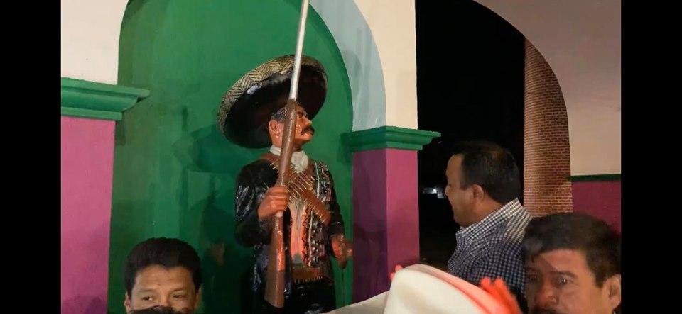 Por eso no tenemos cosas bonitas: Se roban estatua de Emiliano Zapata en Morelos