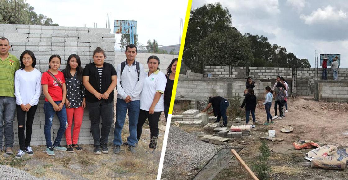 """Jóvenes donan su beca """"Benito Juárez"""" para construir una preparatoria en Querétaro"""