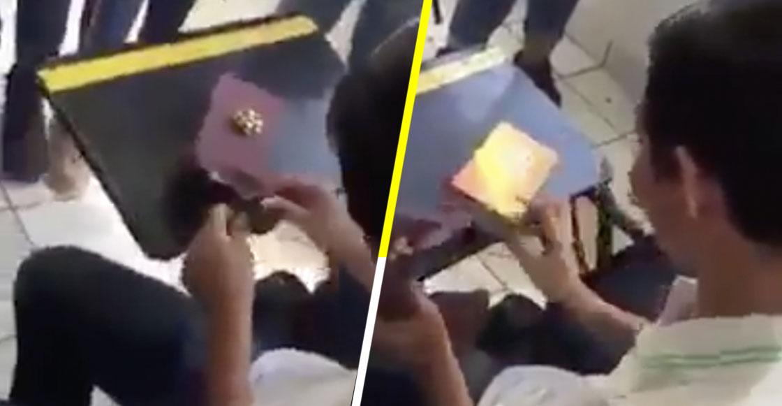 Estudiantes arman la cooperacha para comprarle un celular a amigo de escasos recursos