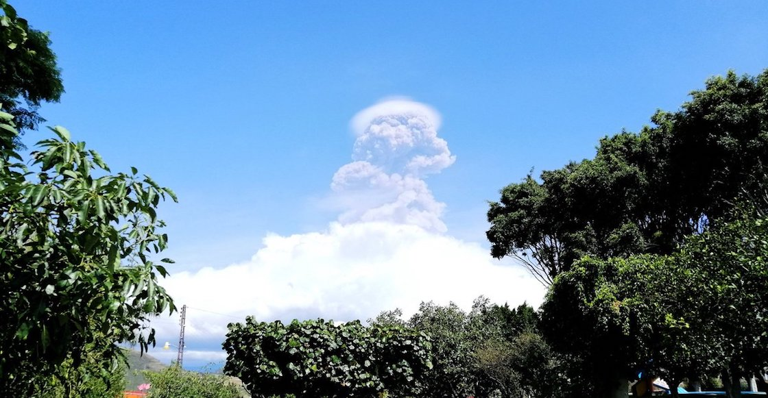 ¡Wow! El Popocatépetl soltó una tremenda fumarola