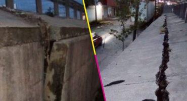 ¿Otra? Una fisura aparece en muro de contención del Paso Exprés, en Cuernavaca