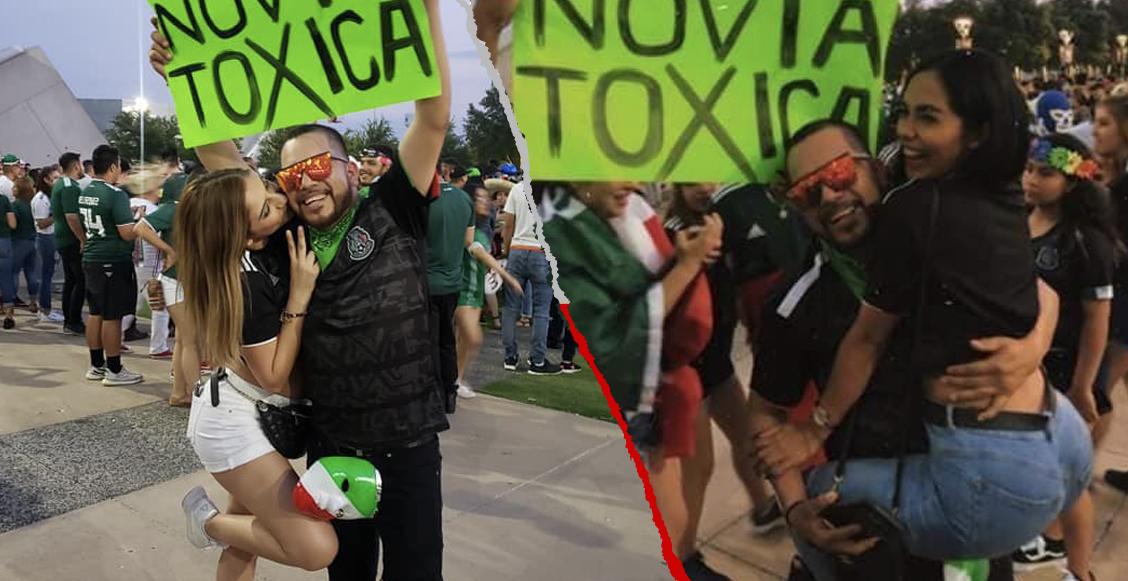 El fan mexicano que buscaba 'novia tóxica' en el estadio... ¡fue un éxito!