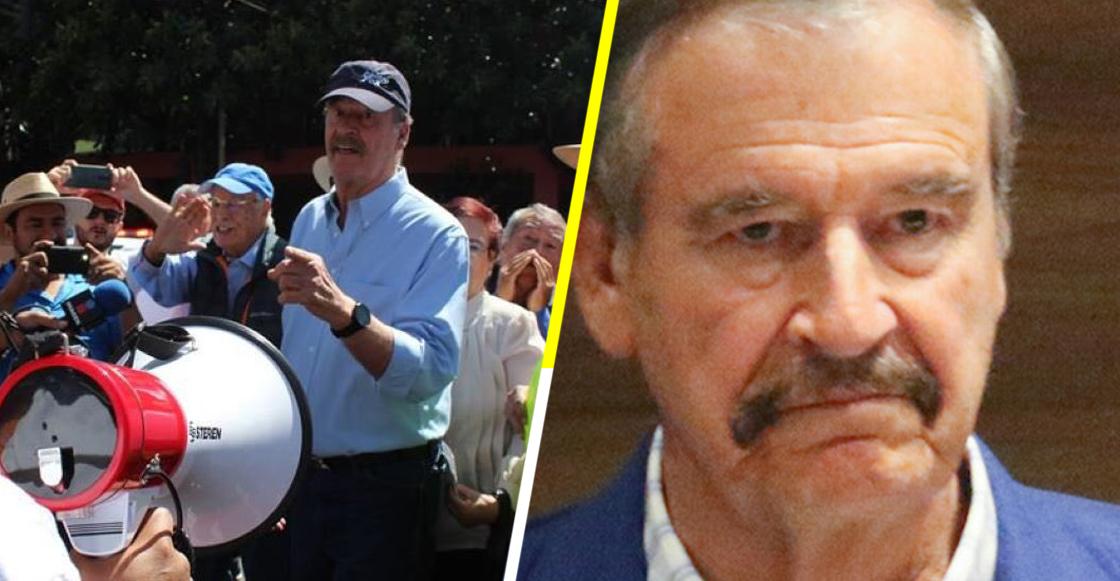 La hora sad: Corren a Vicente Fox de marcha anti AMLO en Guanajuato