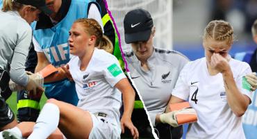 La espeluznante fractura de muñeca de Catherine Bott en el Mundial Femenil
