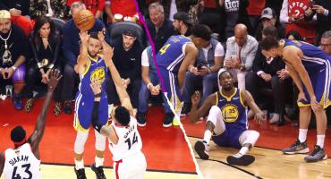 Los Warriors obligan el sexto juego contra Toronto, pero Kevin Durant volvió a lesionarse