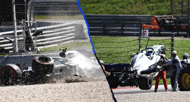 Los accidentes de Bottas, Vettel y Verstappen en las prácticas libres de Austria