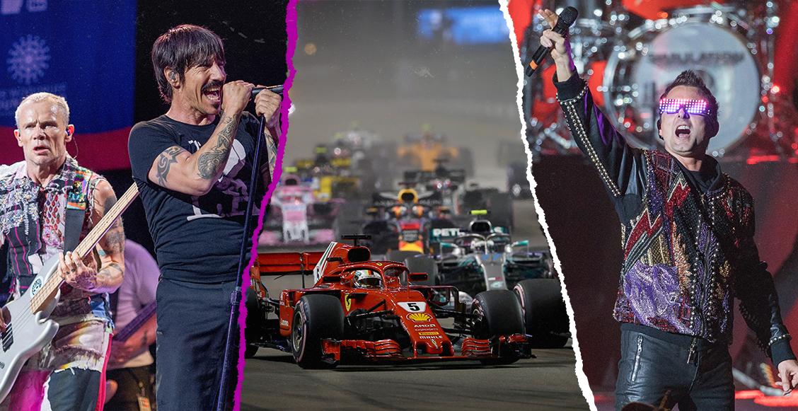 Singapur amenaza los premios del GP de México con los Chili Peppers, Muse y Gwen Stefani