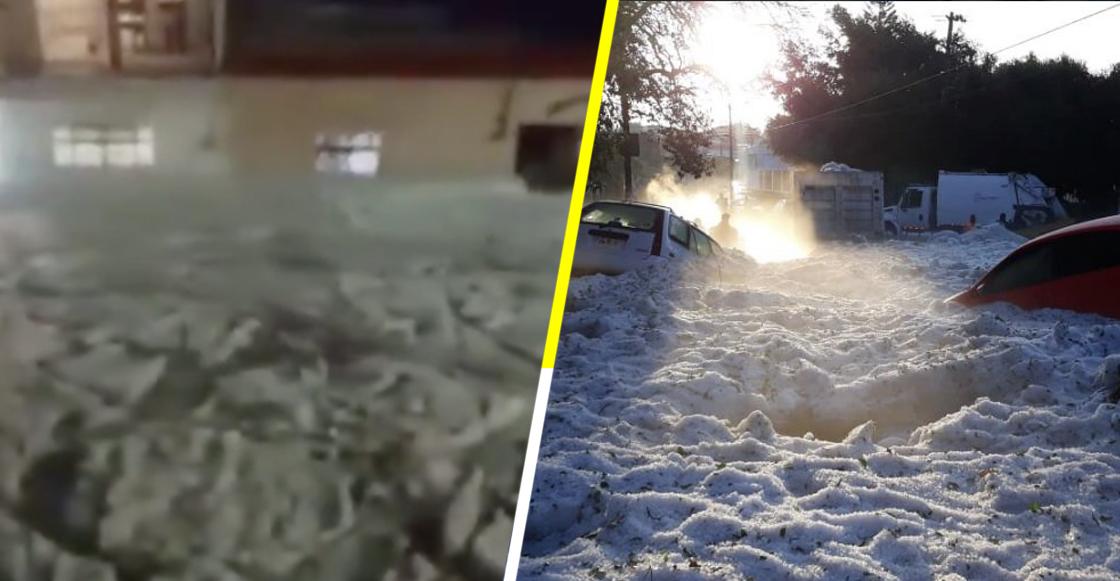Los videos e imágenes que dejó la tormenta que cubrió las calles de Guadalajara con granizo
