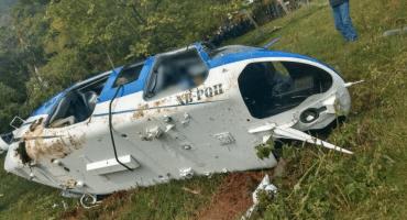 Derriban un helicóptero en Sultepec, Edomex