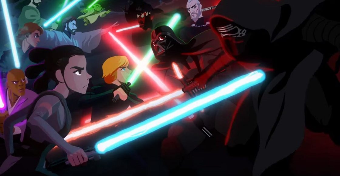 Jedi vs Sith - corto animado de Star Wars
