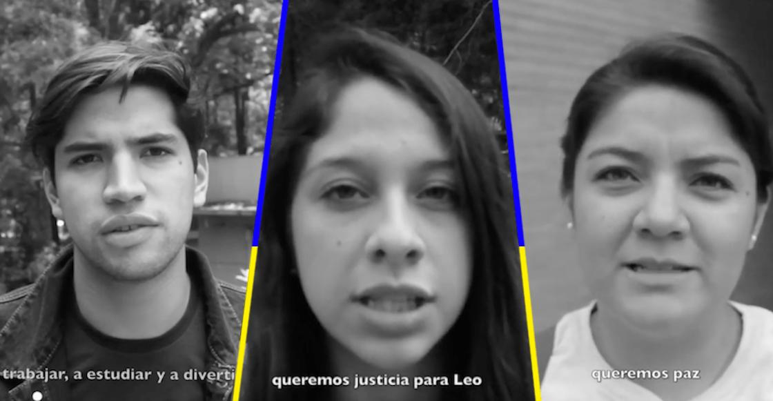 Estudiantes de universidades privadas y públicas exigen #JusticiaParaLeo y todos los desaparecidos