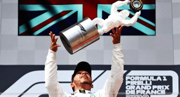Hamilton gana su cuarta carrera consecutiva en el aburrido Gran Premio de Francia