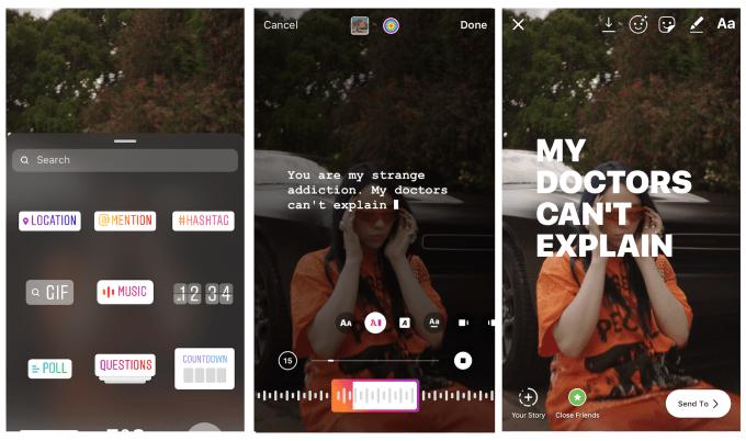 Así puedes poner la letra de tus canciones favoritas en tus Instagram Stories
