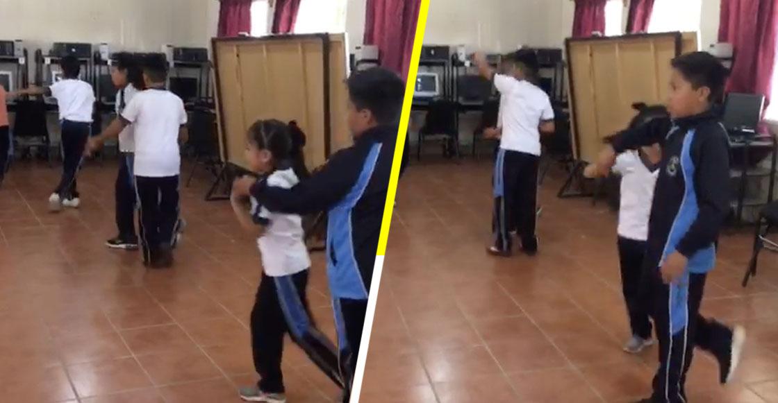 Maestro de educación física da clases de cumbia a sus alumnos de primaria y se vuelve viral