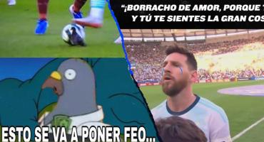 Los memes de Messi cantando el himno y la paloma aplastada en el Argentina-Venezuela