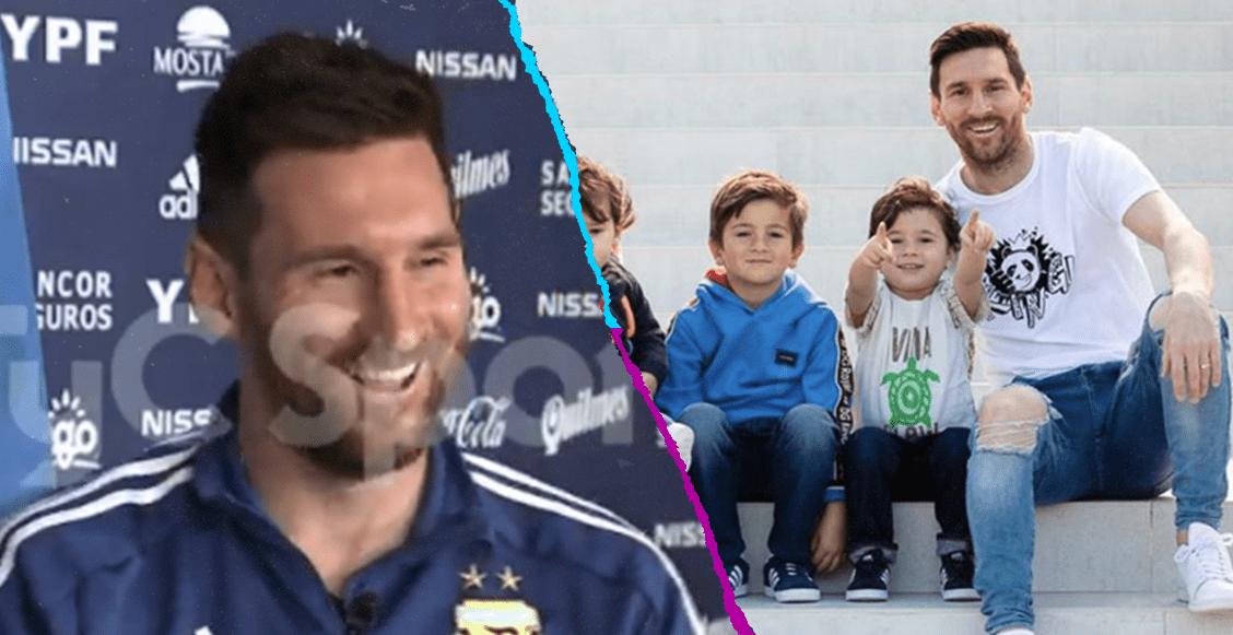 Uno de los hijos de Messi se hace aficionado del Liverpool y del Real Madrid 🤣
