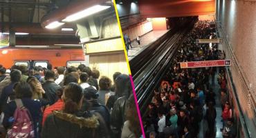 Usuarios reportan caos y congestionamiento en la Línea 7 del Metro CDMX