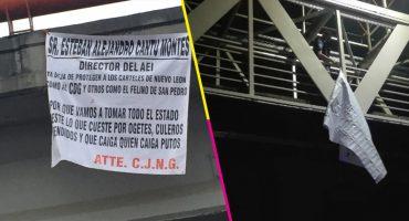Aparecen narcomantas en Monterrey; amenazan al director de la Agencia de Investigaciones