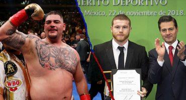 Abre paso, 'Canelo', que nominarán a Andy Ruiz al Premio Nacional del Deporte