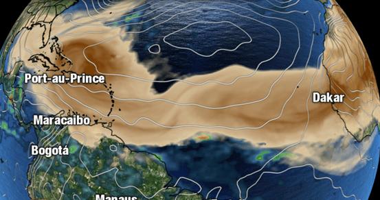 Llega a Monterrey nube de arena proveniente del Sahara