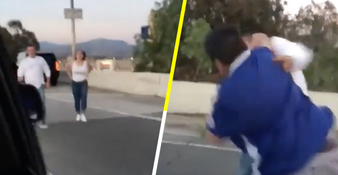 """Pareja llama """"Frijoleros"""" a familia hispana y se ganan unos golpes por racistas"""