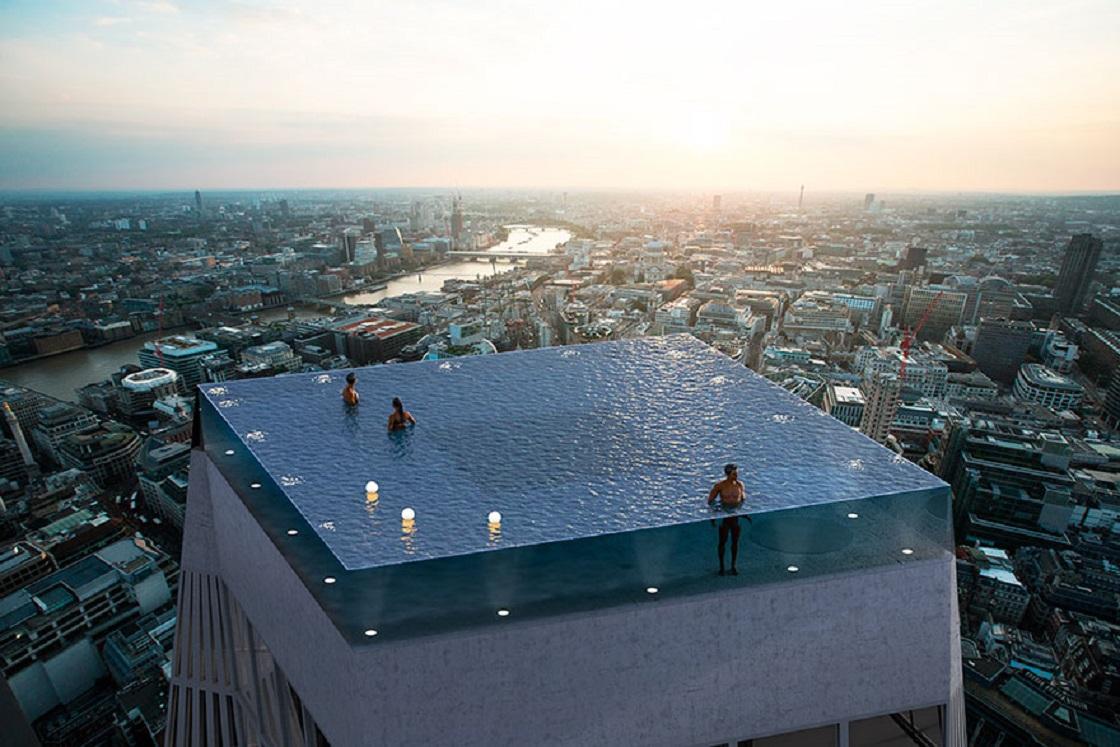 En la cima de un rascacielos: Así luce la piscina más profunda del mundo