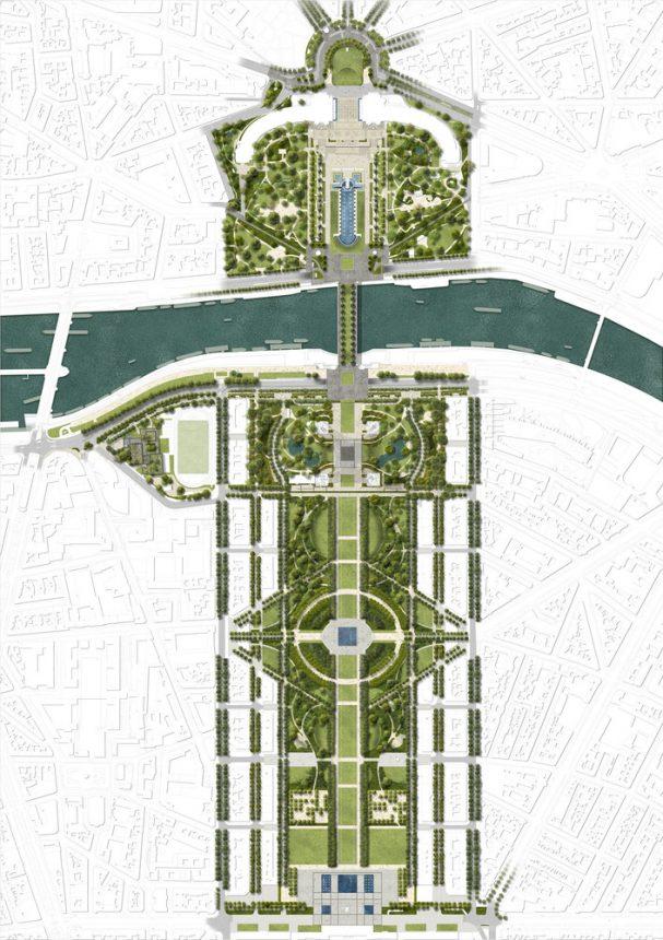 planos campo marte Torre Eiffel