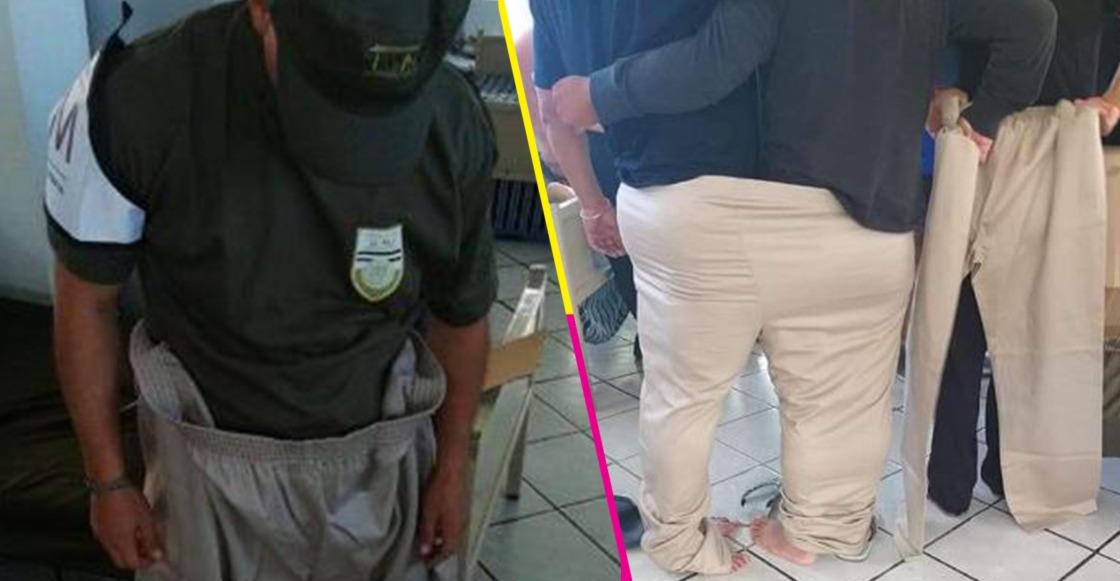 ¿Mejor que sobre a que falte? Mandan a policías del INM en Tapachula uniformes extra grandes