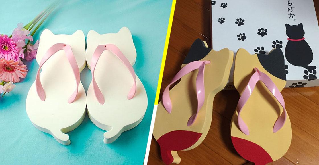 ¡Queremos 10! Ya venden sandalias que dejan marcas en forma de gato sobre la tierra