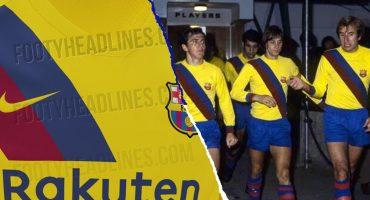 Se filtró el que sería el segundo uniforme del Barcelona 'estilo retro'