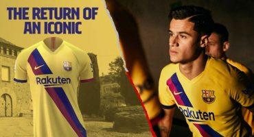 Barcelona hace oficial su uniforme de visitante estilo 'retro'