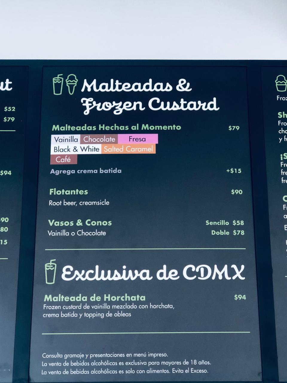 Precios de Shake Shack México