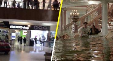 Como cuando se inunda el centro comercial y los músicos comienzan a tocar la canción de 'Titanic'