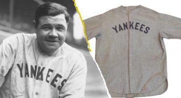Venden camiseta de Babe Ruth a precio récord; es la más cara de toda la historia