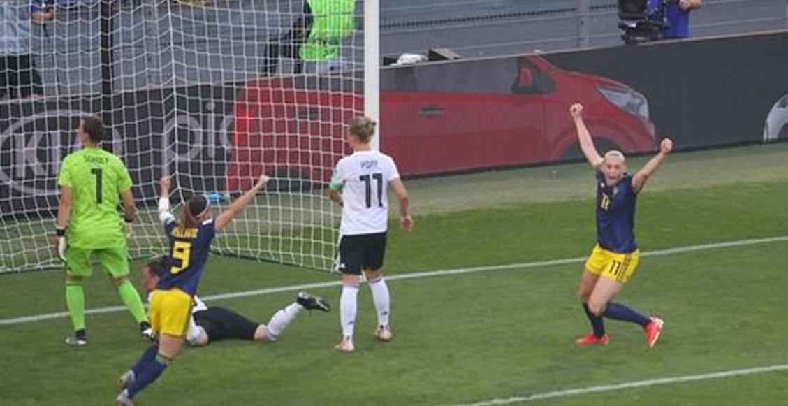 Suecia sorprendió a Alemania y enfrentará a Holanda en semifinales del Mundial Femenil