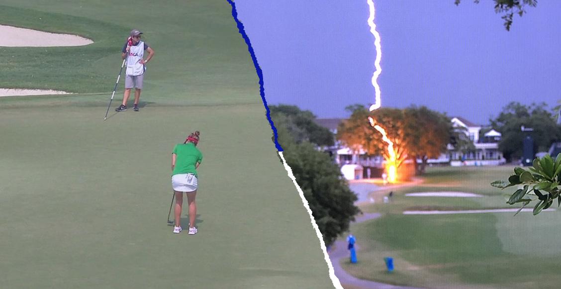 ¡Un rayo cayó en medio del US Women's Open y por suerte no pasó a mayores!