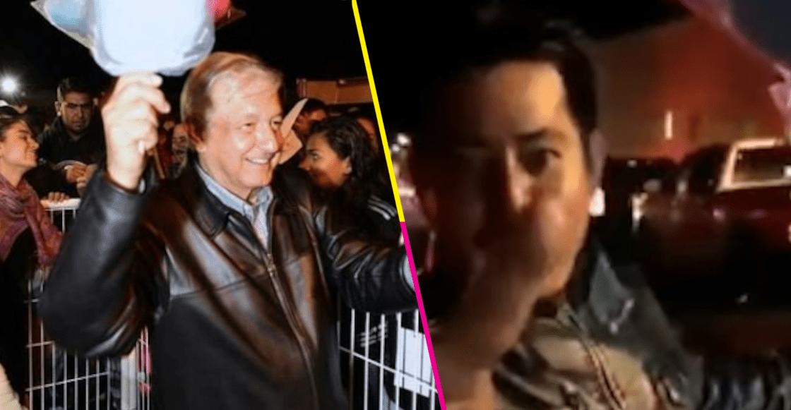 '¡Que me compre un algodón López Obrador!', pide vendedor y así reaccionó AMLO