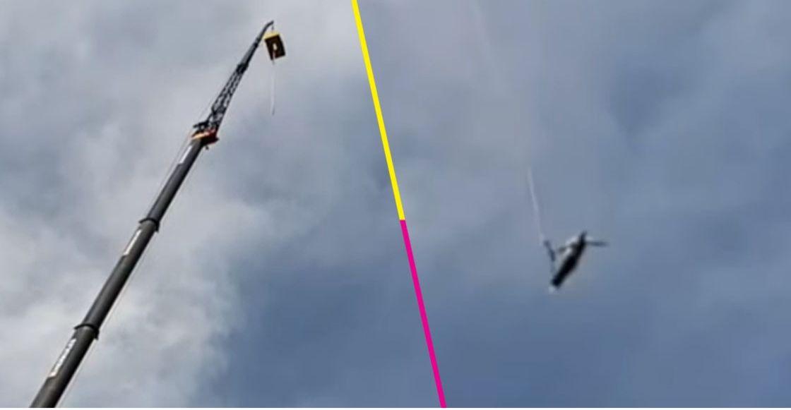OMG! Un hombre saltó del bungee y para su mala suerte la cuerda se rompió