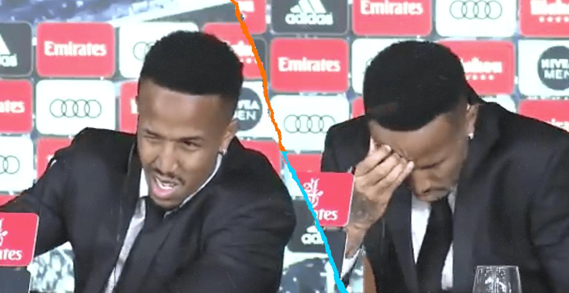 ¡De tanta emoción! Eder Militao se mareó en plena presentación con el Real Madrid