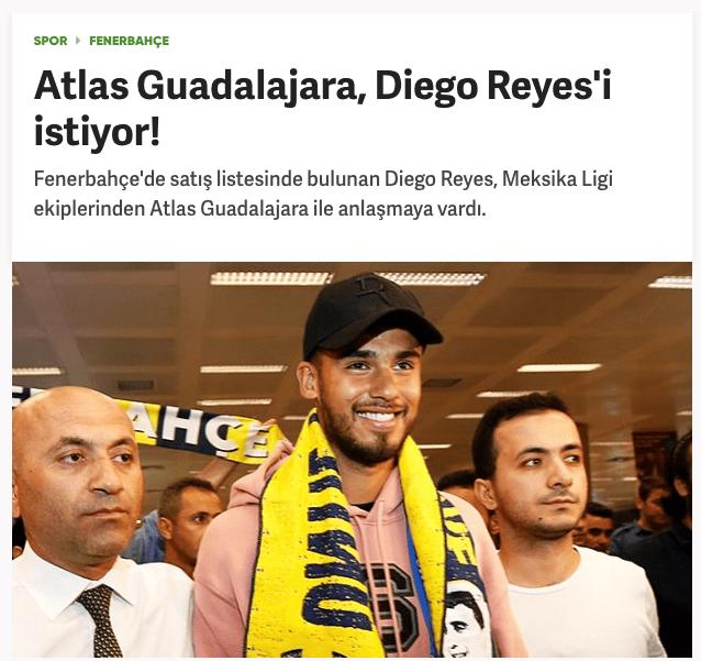 Atlas surge como posible destino para Diego Reyes