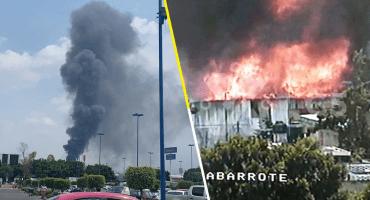 Reportan incendio en las inmediaciones de la Central de Abasto Iztapalapa