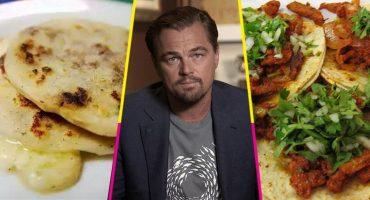 La traición: Leonardo DiCaprio dice que las pupusas son más ricas que los tacos