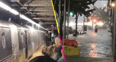 Lluvias e inundaciones colapsaron el metro y las calles de Nueva York